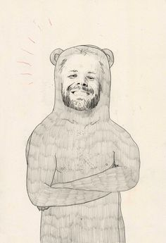adamwilsonholmes:  'Dirk Caber Bear' - October 2014 Drawing based on gay pornstar Dirk Caber by Adam Wilson Holmes