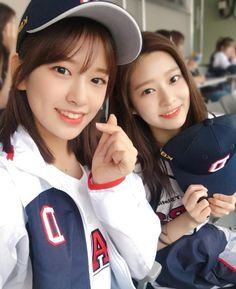 "& ♡ ""At the baseball stadium together with IZ*ONE members for the first time 💕⚾️We had a lot of fun✨"" Kpop Girl Groups, Korean Girl Groups, Kpop Girls, Sakura Miyawaki, Yu Jin, Japanese Girl Group, Kim Min, Extended Play, Perfect Couple"
