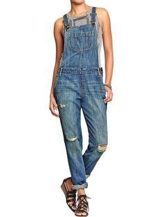 $35 distressed overalls @oldnavy