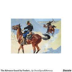The Advance Guard by Frederic Remington Poster Canvas Print