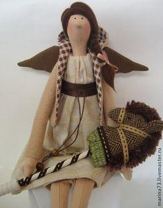 Тильда ангел - коричневый,кукла Тильда,ангел тильда,фея тильда,tilda,тильда ангел