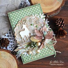 Handmade by Aleksa Kras: Новый год не за горами, открытки сериями
