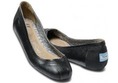 TOMS Camila Black Leather Ballet Flats-- so excited fo these to come out in spring! Toms Ballet Flats, Black Ballet Flats, Leather Ballet Flats, Black Flats, Suede Shoes, Leather Toms, Black Leather Flats, Me Too Shoes, Shoes