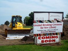 Groundbreaking at North Sioux City #SDSLCornerstone @North Sioux City Community Library