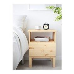 IKEA - TARVA, Nightstand, , Made of solid wood, which is a durable and warm natural material.If you oil, wax, lacquer or stain the untreated solid wood surface it will be more durable and easy to care for.