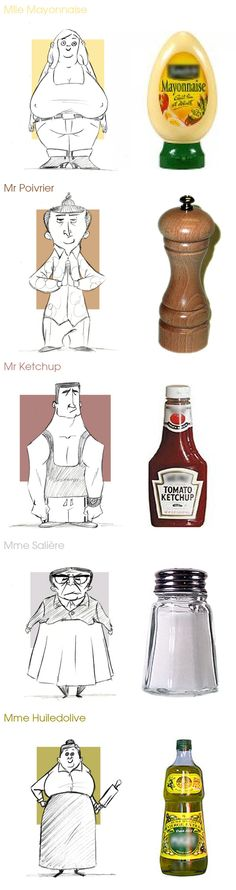 FIND INSPIRATION EVERYWHERE!!! Condiments by XAV-Drawordie.deviantart.com on @deviantART