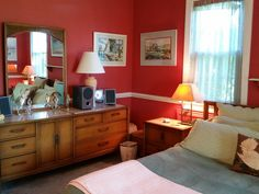 In the master suite. Dresser As Nightstand, B & B, Master Suite, Heaven, Table, Furniture, Home Decor, Sky, Decoration Home