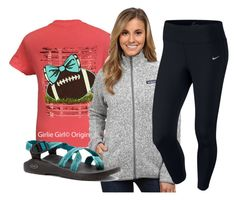 """""""utk football lost yesterday:(("""" by elizabethannee ❤ liked on Polyvore featuring Patagonia, Chaco, NIKE, women's clothing, women's fashion, women, female, woman, misses and juniors"""