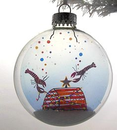 Glass Little Lobsters Christmas Ornament | This little lobsters Christmas ornament transforms film negati... | Holiday Ornaments
