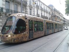 Tranvía en Montpellier, Francia.
