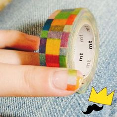 かわいすぎ♡ マスキングテープを使ったネイルデザイン