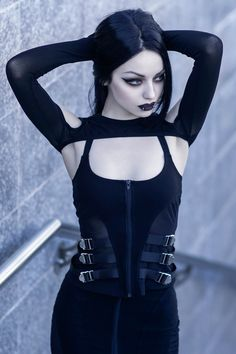 Gothic Girls, Hot Goth Girls, Punk Rock Girls, Goth Beauty, Dark Beauty, Asian Beauty, Dark Fashion, Gothic Fashion, Steampunk Fashion