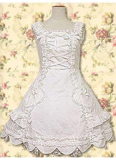 Cotton White Lace Ruffles Sweet Lolita Dress