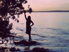 Beach shadow photo shoot silhouette