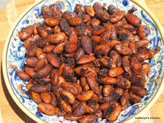 Chili Lime Spiced Roasted Almonds Recipe on Almond Recipes, Paleo Recipes, Snack Recipes, Dessert Recipes, Cooking Recipes, Desserts, Spiced Almonds, Raw Almonds, Roasted Almonds