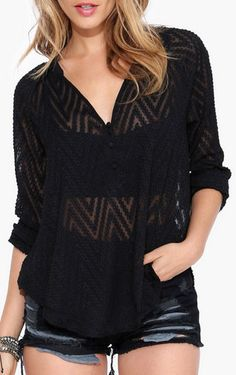 Bethany Blouse in Black