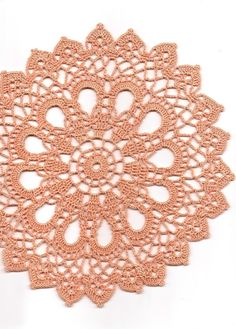 Christmas doily, Gift Crochet doily, lace doilies, table decoration, crocheted doilies, centre piece, hand made, table runner, napkin, peach
