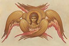 Byzantine Icons, Byzantine Art, Religious Icons, Religious Art, Angel Images, Russian Icons, Orthodox Icons, Sacred Art, Cherub