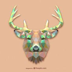 Diseño poligonal ciervo