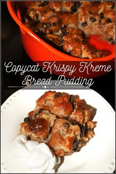 Instead of a birthday cake this year I made my own Copycat Krispy Kreme Donut Bread Pudding! This rich dessert is made with chopped up glazed donuts and custard and served warm with whipped cream. If you have a sweet tooth like my family, you'll love this sinful dessert! Best Breakfast Recipes, Sweet Breakfast, Breakfast Time, Brunch Recipes, Easy Dinner Recipes, Easy Meals, Breakfast Ideas, Easy Recipes, Fun Desserts