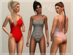 laupipi's Malia The Sims 4 Download, Sims 4 Cas, Sims 4 Cc Finds, Sims 4 Clothing, Sims Mods, The Sims4, Cute Swimsuits, Summer Accessories, Super Cute