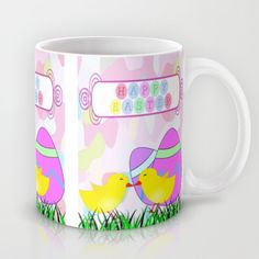 #Society6 Happy Easter Mug by Elena Indolfi