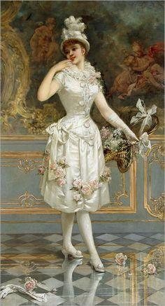 """The Rose Beauty"" by Emile Eisman-Semenowsky, 1893."