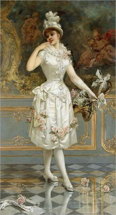 """The Rose Beauty"" by Emile Eisman-Semenowsky, 1893."