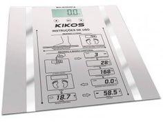 Balança Digital c/ Medição de Massa Corporal - Memória até 10 Usuários - Kikos Ison