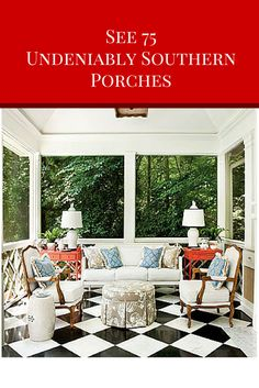 Patios and porches are an integral part of Southern culture. These classics are inviting and inspiring.