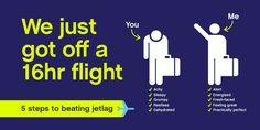 This jetlag is killing me & ruining my vacation.  5 easy steps I wish I knew B4 my flight.