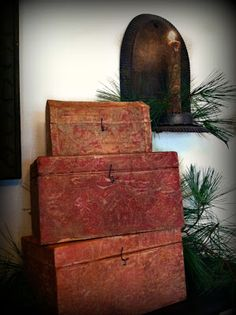 fabulous old wooden boxes/trunks