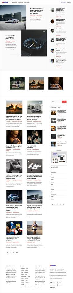 Ahead is clean and modern design responsive #WordPress #blog theme for creative #writer and bloggers website download now..