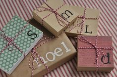 The Secret to Having it All......: Monogram Monday, Top Ten & Pin It Tuesday: Gift Wrapping