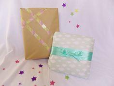 Envoltorios bonitos para bebes. Gorgeous packaging for a baby.