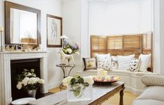 Where to Put a Window Seat: Living Room. Angled seat?