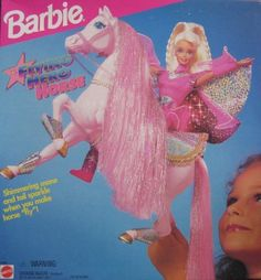 Barbie Flying Hero Horse w Shimmering Mane & Tail (1995) by Mattel, http://www.amazon.com/dp/B000PJSXLO/ref=cm_sw_r_pi_dp_quciqb02B4AN8