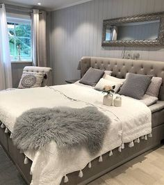 [New] The 10 Best Bedrooms (in the World) Grey Furniture, Furniture Design, Cozy Living Spaces, Boys Desk, Vintage Shabby Chic, Interior, Home Decor, Dresser Desk, Snuggles