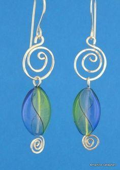 Swirl wire earrings