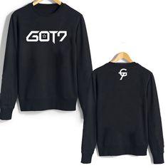 MAXGIRL KPOP Got7 Jackson Group Sweater Long Sleeve Hoodie Pullover Small Black