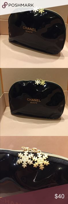 Large Chanel Cosmetic Bag VIP Gift From beauty counter LARGE bag  These do not come in a bundle. It is just to show you the size. If you would like to do a bundle let me know. Brand new!!! CHANEL Bags Cosmetic Bags & Cases