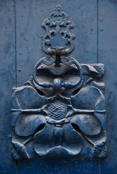 Door Decoration and knocker, Pau, France                              …