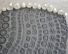 Handgemaakte stempels voor aardewerk-Clay postzegels voor fondant, kauwgom plakken, PMC, polymeerklei en meer