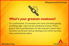 Interview Question!! What is your greatest weakness?? Get the best answer to prepare for your interview!! #iAugmentorTechnology #InterviewQuestion #Technology #Gurgaon