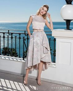 Party dress, Cocktail Dresses, Mother of the bride dresses. Complete Spring-Summer Balcón del Mar Collection Sonia Peña - Ref. Two Piece Dress, The Dress, Skirt Outfits Modest, Dinner Wear, Short Dresses, Formal Dresses, Bride Dresses, Online Dress Shopping, Lovely Dresses