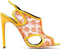Rupert Sanderson Trinity Daisy Mesh & Leather Sandal | 2014