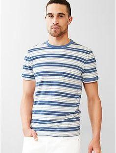 Lived-in multi-stripe pocket t-shirt | Gap