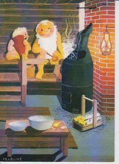 Nordic Christmas, Christmas Cards, Saunas, Retro Design, Gnomes, Bad, Illustrators, Fairy, Album