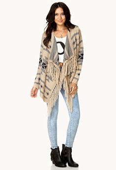 Worldly Open-Front Cardigan   FOREVER21 - 2000129244