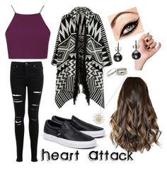 """""""Heart Attack❤️"""" by littleheartlessgirl ❤ liked on Polyvore featuring Miss Selfridge, Topshop, Accessorize, Vans and Daisy Jewellery"""